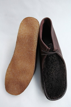 HTS Upper Sheep Skin Wallabee D BROWN (10)