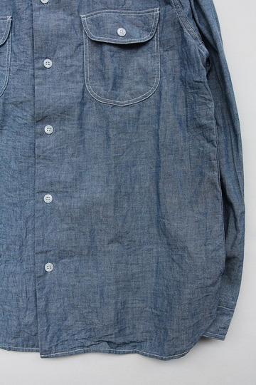 EMPIRE & SONS LS Camp Shirt Chambray BLUE (3)