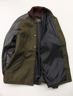 SKOOKUM Sur Coat OLIVE X BROWN (6)