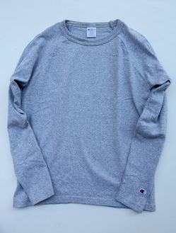 Champion T1011 Raglan Long Sleave Tee OXFORD GRAY