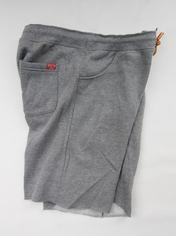 BRIXTON Folson Sweatshort HEATHER GREY (2)