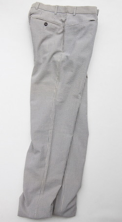 Mabitex Seersucker Tepered Pants BEIGE X GREY (6)