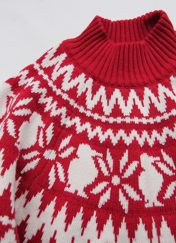 Chums Nordic Knit Top RED (2)