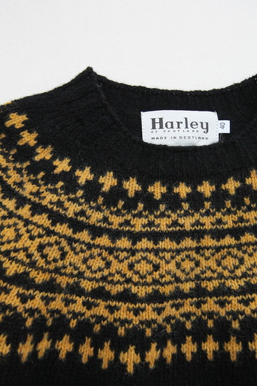 Harley Fairisle York 2Col Crew Neck BLACK NUGGET (2)