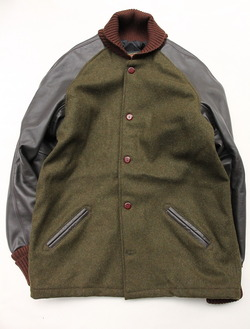 SKOOKUM Sur Coat OLIVE X BROWN