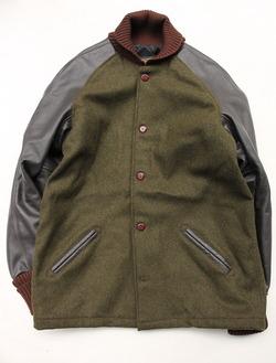 SKOOKUM Sur Coat OLIVE X BROWN