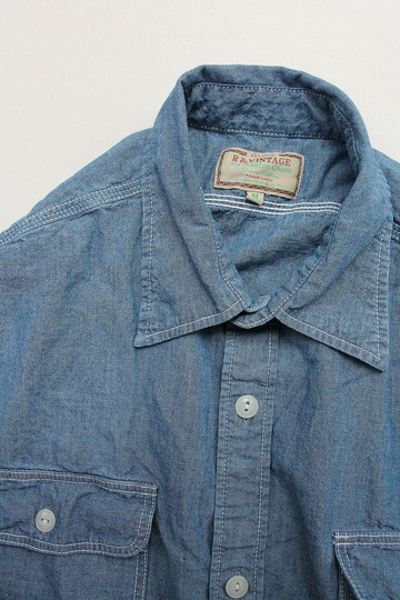 R & Vintage 5 oz Chambray LS TN Shirt (2)