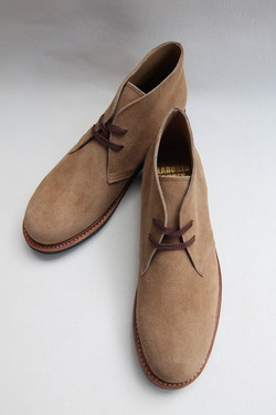 Laborer Shoes Postman Chukka BEIGE Suede (3)