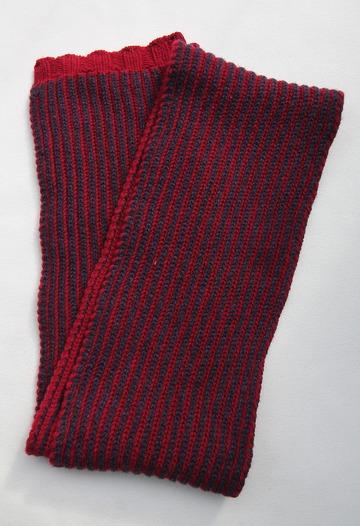 Robert Sim Rib Knit RED X GRAY NAVY (3)