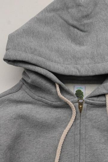 Arbre HW Cotton Fleece Zip up Sweat Parka GREY (3)