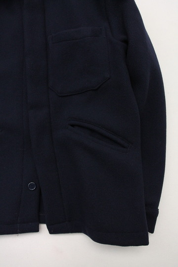 MADE IN ITALY Wool & Cashmere Work Jacket NAVY (4)