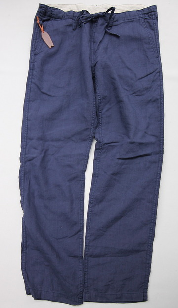 Sunlight Believer Irish Linen Relax Pants NAVY