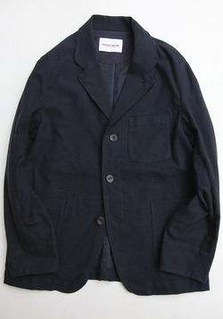 Vincent et Mireille Tailored Jacket Cotton Stretch Moleskin NAVY