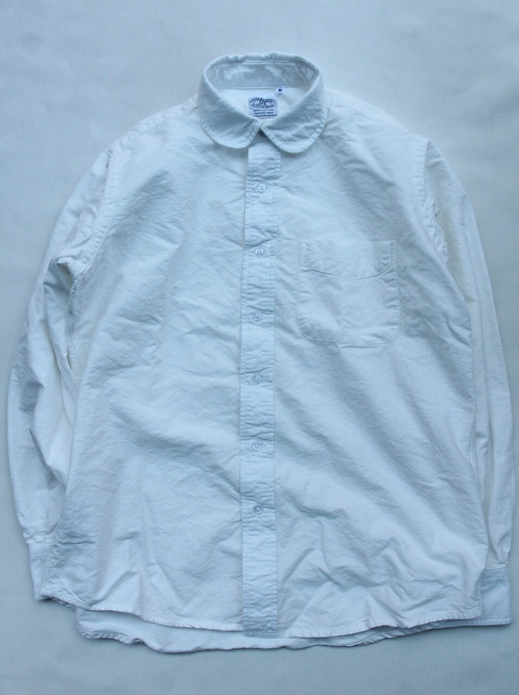 THE BAGGY Cotton Oxford Round Collarls WHITE
