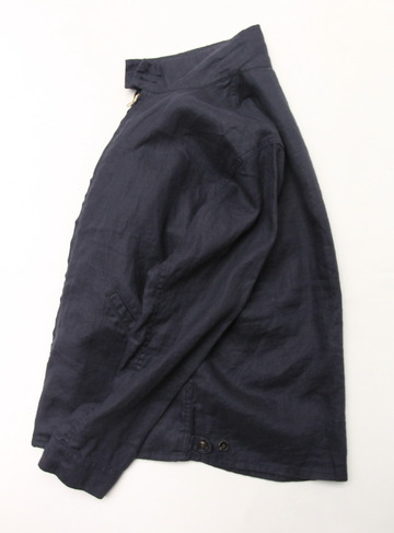 Arbre Linen Zip Jacket NAVY (4)