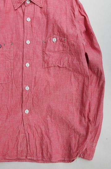 FOB Chambray Work Shirt RED (4)