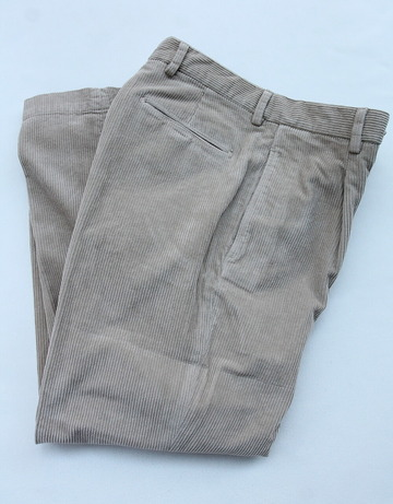RM 1 Tuck Wide Pants 8 Well Corduroy BEIGE