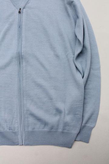 Vitter 2430 Zip Cardigan SAX BLUE (3)