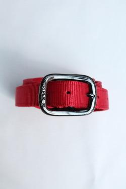 TRIPLE 1Plain Nylon Web Belt RED