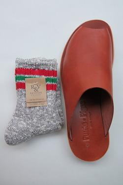 R&Vintage Nep 3Line Socks GREY (2)