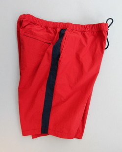 MIDA Nylon Shorts with Mesh Lining RED X NAVY (3)