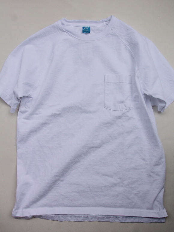 Goodon Heavy Raglan Pocket Tee Shirt WHITE