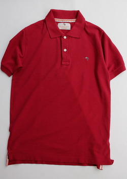 Private Lives Vintage Wash Polo RED