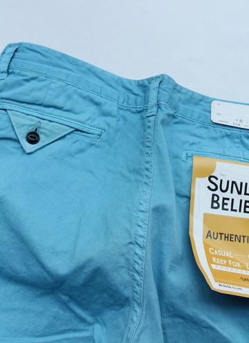 Sunlight Believer 9 Length Chino BLUE (2)