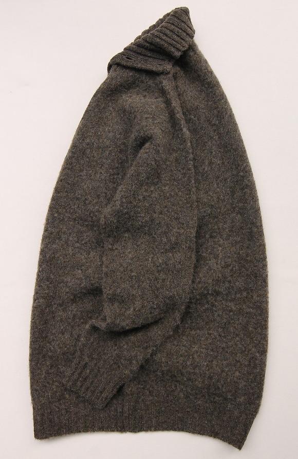 John Tulloch Heavy Brush Polo Neck Cardigan (2)