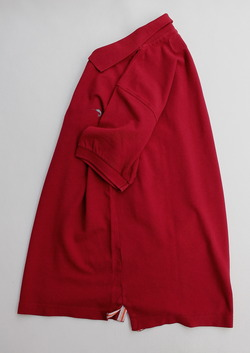 Private Lives Vintage Wash Polo RED (2)