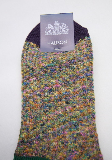 HALISON Marble Slab Anckle Socks YELLOW (4)