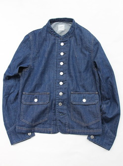 Le ciel de Harriss Stand Collar Denim Jacket