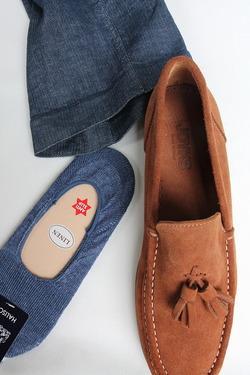 HALISON Melange Linen Lofers Socks INDIGO