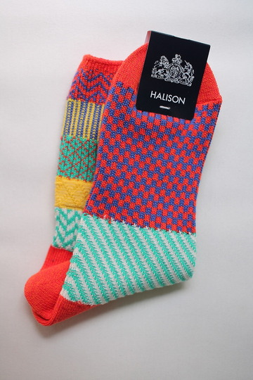 HALISON Cotton Multi Jacgaurd Short Socks ORANGE (4)