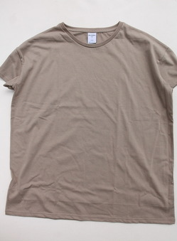 Quotidien Loose Fit Crew Neck BEIGE