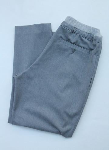 Le Ciel de Harriss T Rayon Tuck Easy Pants GREY