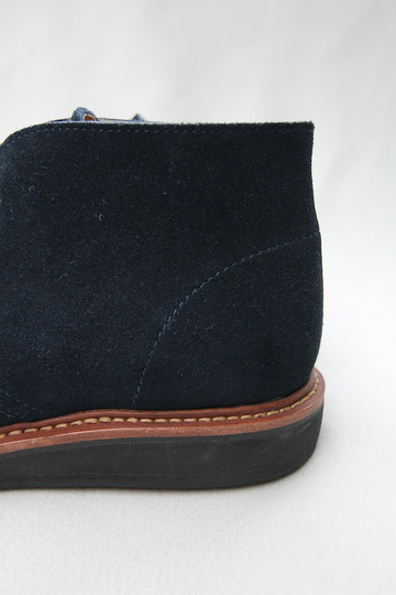 Laborer Shoes Postman Chukka NAVY Suede (7)