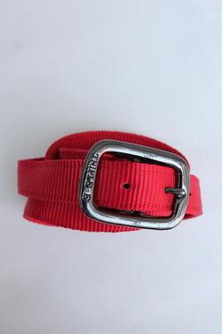 TRIPLE 1 Plain Nylon Web Belt RED (3)