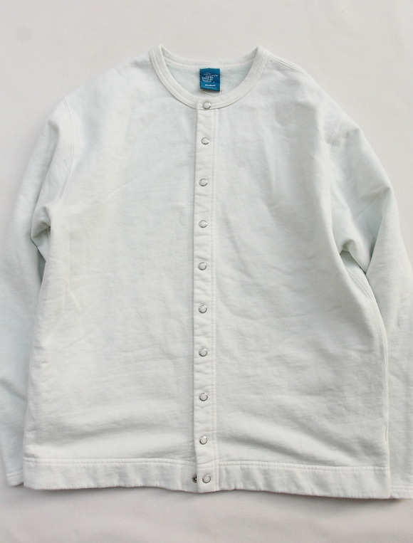Goodon Crew Sweat Cardigan P P WHITE