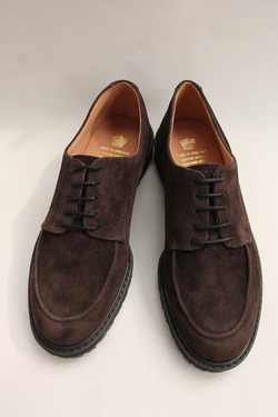 Crown Northampton Apron Shoes DK BROWN