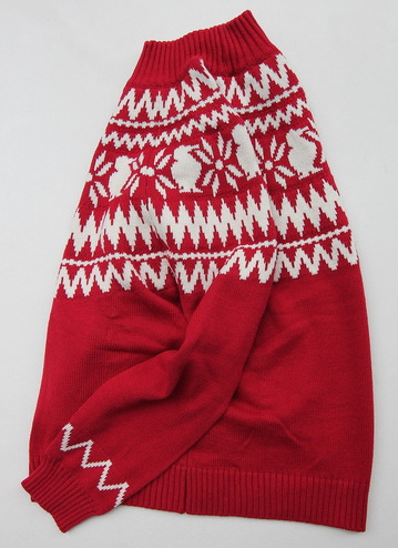 Chums Nordic Knit Top RED (3)
