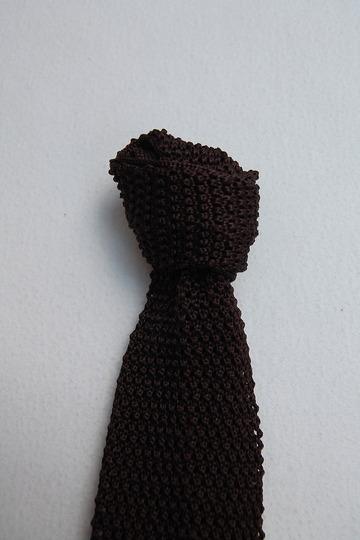 Component Silk Knit Tie BURGUNDY (4)