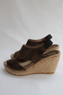 Calzanor Suede Thick Wedge BROWN (4)