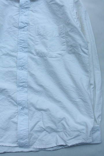 THE BAGGY Cotton Oxford Round Collarls WHITE (4)