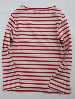 TENJIKUYA LS Border Tshirt NTL x RED