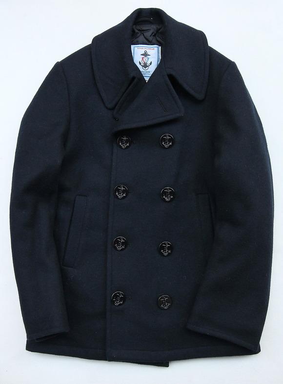 Sterlingwear Wool Melton P Coat NAVY