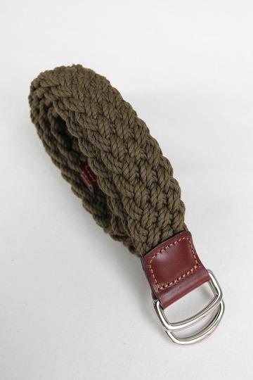 ATHISON Cotton Ring Belt OLIVE (5)