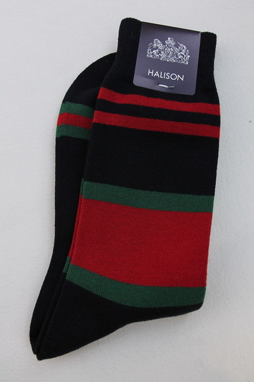 HALISON Dralon Cotton Rugger Border NAVY (2)