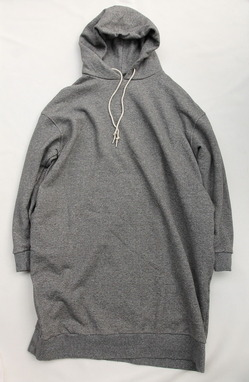 Le ciel de Harriss Sweat Hoodie Dress GREY