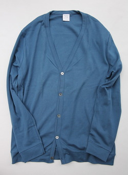 Bandol Interlock V Cardigan BLUE